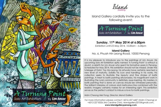 A Turning Point - Solo Art Exhibition by Lim Anuar