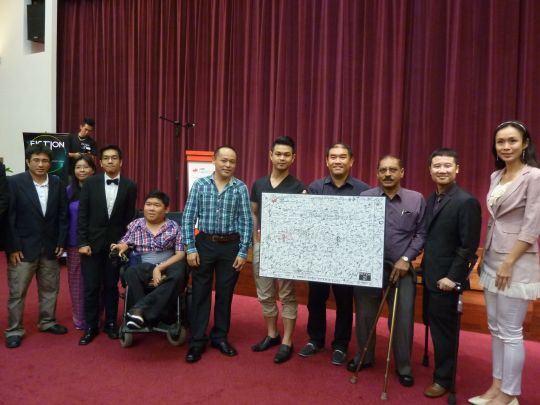 Celebration of Project MPH Book Launch for 15 Physically Challenged Entrepreneurs in Malaysia in Inti Subang