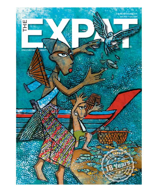 The Expat July Issue which feature my artwork